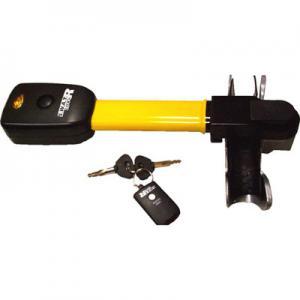 Механический блокиратор руля автомобиля со встроенным детектором вибрации, сиреной и строб-вспышкой.