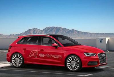Audi A3 e-tron - гибридный автомобиль, который можно купить в России в 2014 году.